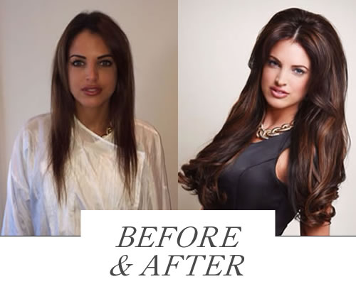 Before & After derby Hair Extensions Collection Photo Gallery